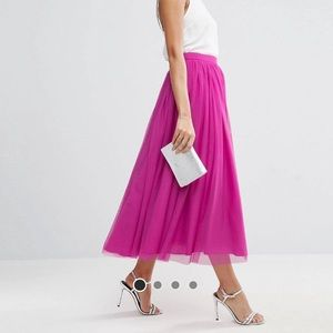 ASOS Tulle Prom Skirt - hot pink